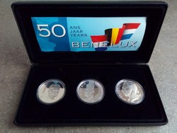 BENELUX államok - 50 év emlék ezüst tükörveretek (id7340)