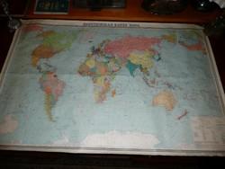 Régi orosz geopolitikai térkép szép és jó állapotban a Szovjetunió idejéből