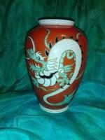 Sárkányos, kézzel festett porcelán váza...Schaubachkunct.