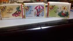 Retro miniatúra gyerek dalos leporellók (3 db)