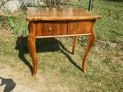 Antik biedermeier asztal két fiókkal