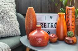 Retro váza csomag (6 db) - Tófej gyűjtemény: zodiákus, ceruza, kaktusz váza