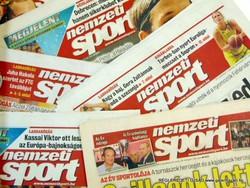 2010 április 7  /  Nemzeti Sport  /  SZÜLETÉSNAPRA RÉGI EREDETI ÚJSÁG Szs.:  3095