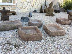 Kőtál keleti kerti csobogóhoz, japán, kínai. kő, szikla