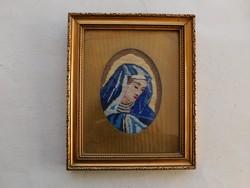 Szép régi gobelin szép keretben: Mária