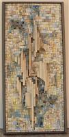 Rác András (1926-2013) Mozaik relief 76x36cm Kompozíció c. EREDETI GARANCIÁVAL !