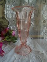 Régi üveg váza. Magassága 20 cm.