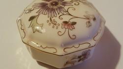 Zsolnay porcelán bonbonier,ékszeres...hibátlan