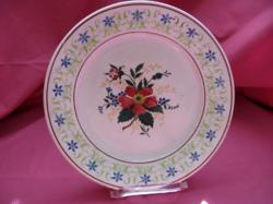 Antik vadrózsás tányér
