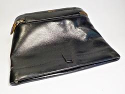 Régi jelzett angol férfi  neszesszeres bőr táska Real Cowhide
