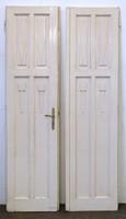 0V944 Régi nagypolgári kétszárnyú szoba ajtó pár