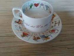 Angol kávés csésze kistányéral