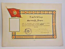 Néphadsereg ötvenéves  emléklap  1978