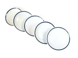 Régi Zsolnay kék mintás kistányér egyben vagy darabonként