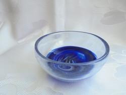 Muranói üveg kínáló tálka
