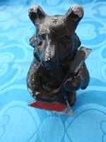 Antik vas balalajkázó medve - szovjet szobor