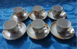 VIKTORIA irizáló gyöngyházfényű mitológiai jelenetes kávéskészlet