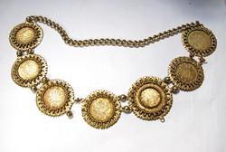 Aranyozott ezüst óbesenyői bolgár lázsiás nyakék!