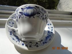 Meisseni kék hagyma mintás csésze alátéttel