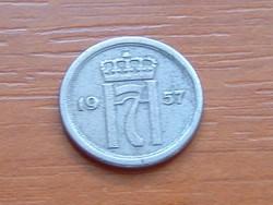 NORVÉGIA 10 ÖRE 1957
