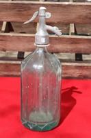 Szögletes szódásüveg  színes 1 literes