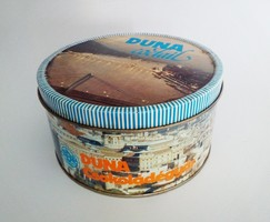 Retró Duna Coctail csokoládé bonbonosdoboz, 1985