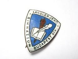 Landler Jenő Gimnázium iskolajelvény