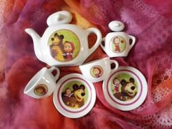 Mini porcelán teás.....ritkaság.
