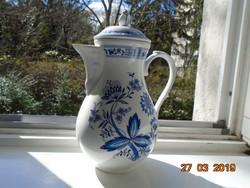 Meisseni kék hagyma mintás,bidermeier stílusban,rózsabimbós tetővel,impozáns kiöntő