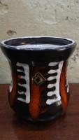 Jelzett iparművész retro kerámia váza