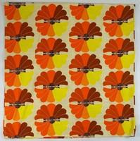 0W116 Retro virágmintás szövet anyag 224x236 cm