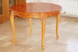 Chippendél barok Sligmann étkezőasztal 110x76cm + 4 szék