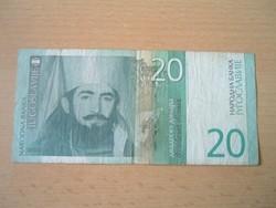 JUGOSZLÁVIA 20 DINÁR 2000 AE #