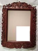 Fali tükör faragott kerettel