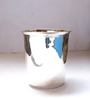 Antik francia ezüst pohár,Philippe Berthier, Párizs 1841-1851.