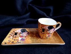 """Gustav Klimt """"A csók"""" mokkás szett"""