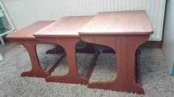 3 db os design tea asztalok, lerakó garnitúra, minimal design