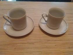 Jugoszláv porcelán kávés csészék kistányéral