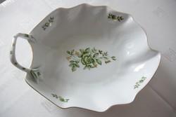 Gyönyörű Erika mintás hollóházi porcelán egyfüles kínáló tálka