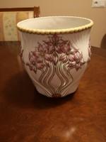 Gyönyörű Zsolnay egyedi porcelán szecessziós kaspó, régi tervezés - új kivitelezés, hibátlan