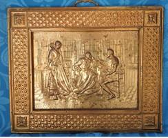 Antik angol rézkép falapon