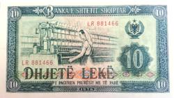 Albánia  10 Albán Lek 1976 UNC
