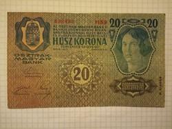 Szép 20 Korona 1913 !! Bélyegző D.Ö. ! !  ( 2 )