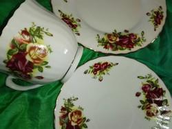 """Royal reggeliző szett,"""" angol rózsák"""".teás, kávés....3 db"""