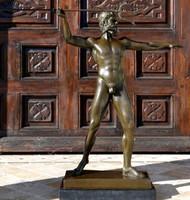 Hatalmas Zeusz bronz szobor