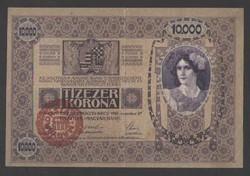 10000 korona 1918. Magyarország feIűlbélyegzés!!  VF+++!!  GYÖNYÖRŰ!!