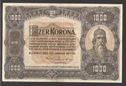 1000 korona 1920. EF++!! GYÖNYÖRŰ!!
