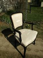 Virágos faragásos neobarokk karosszék / karos szék vagy fotel
