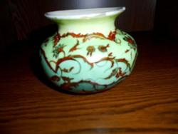 Kézzel festett jelzett  porcelán váza-1954 évből