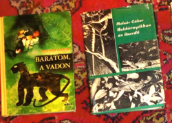 7 db Molnár Gábor vadász és útleírás könyve  ( 600.- ft/db,de csak egyben )